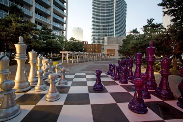 icon brickell Chess Pool Deck