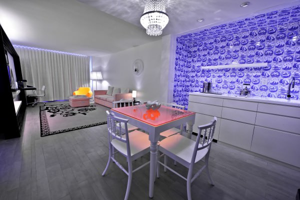 Mondrian South Beach living room