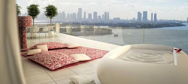 Mondrian South Beach spa deck