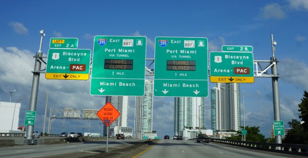 Port of Miami Tunnel Signs