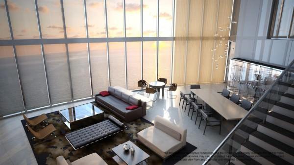Porsche Design Tower Duplex sunset