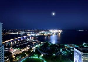 Night Bay View