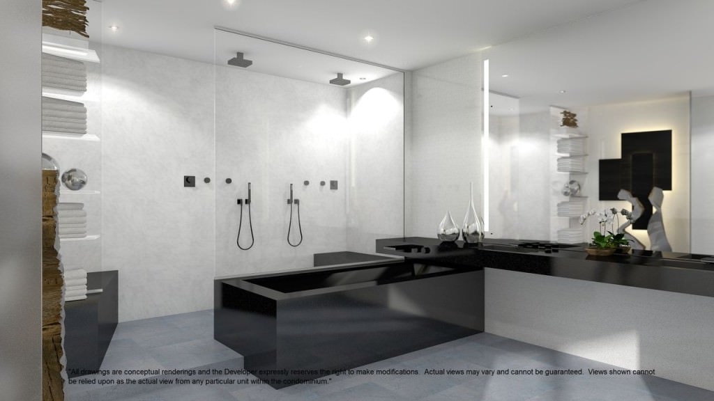 Bathrooms with sophisticated design.