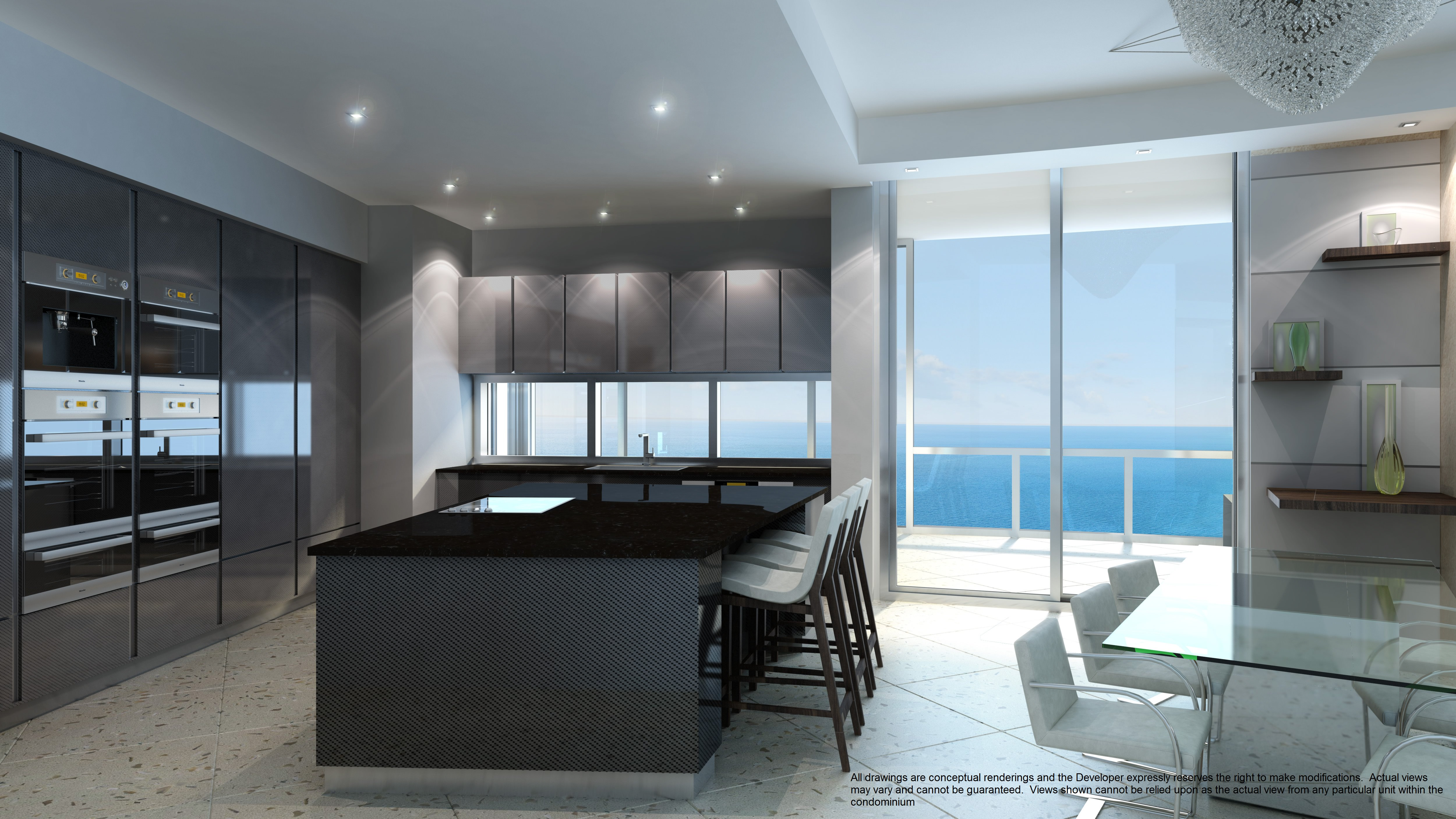 Porsche Design Tower Dark Kitchen Investinmiami Com