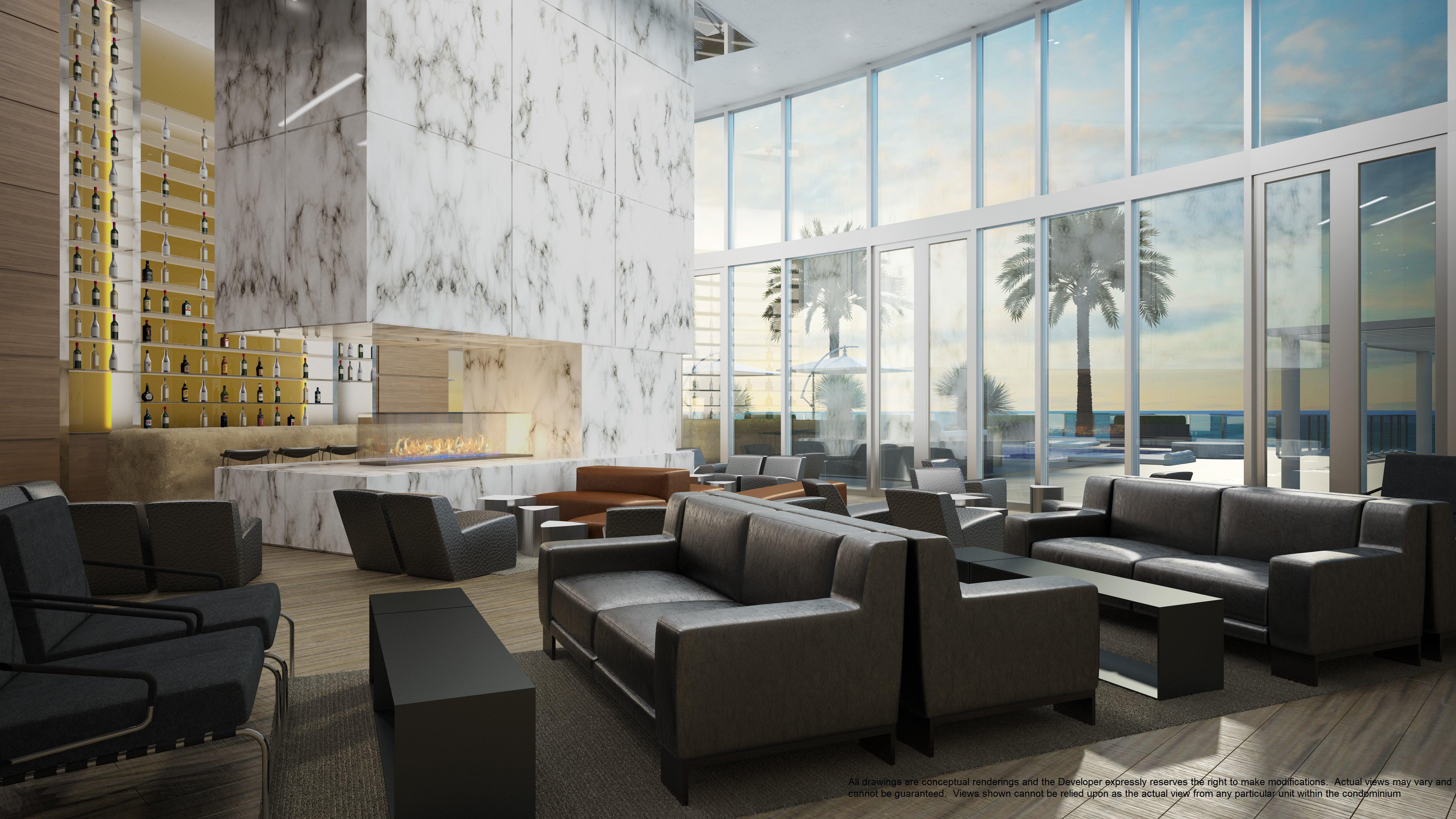 Porsche Design Tower Lobby 2 Investinmiami Com