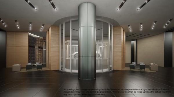 Porsche Design Tower Lobby