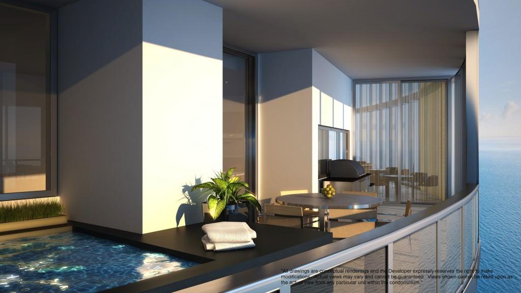 Porsche Design Tower Plunge pool and summer kitchen