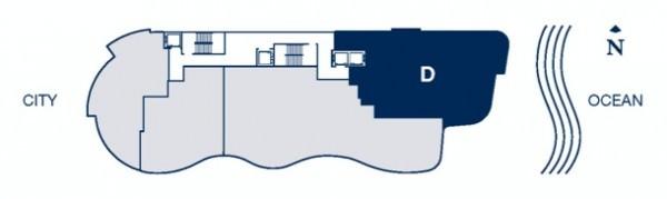 Chateau Beach floor plan D