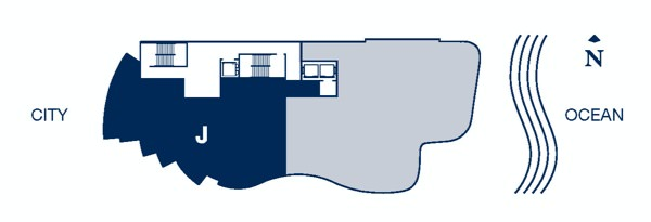 Chateau Beach floor plan J