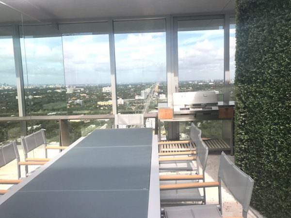 Grove at Grand Bay Penthouse rooftop Summer kitchen