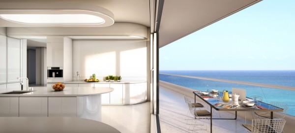 Kitchen white balcony