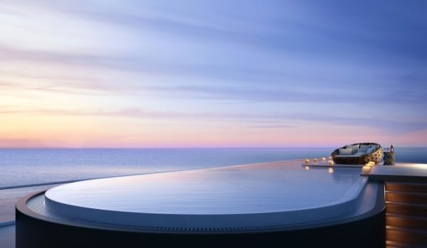 Faena House rooftop pool
