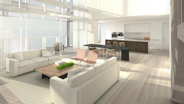 Edition Residences Miami Beach Kitchen living