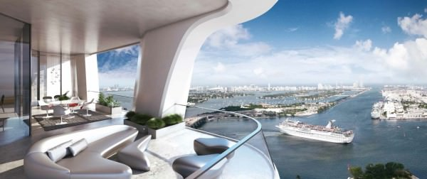1000 museum penthouse by zaha hadid for Origin of balcony