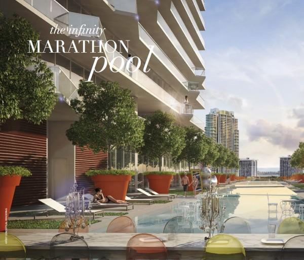 SLS Hotel and Residences Marathon pool
