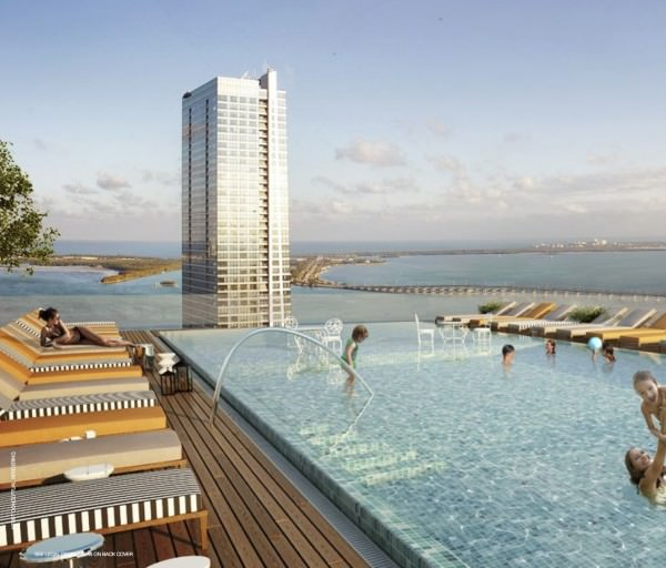 SLS Hotel and Residences Sky Pool 2