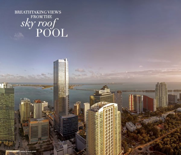 SLS Hotel and Residences Sky Pool view