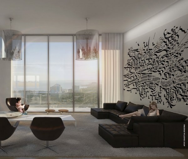 SLS Hotel and Residences living
