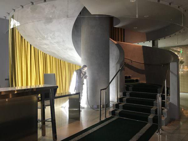 SLS Residences Brickell Hotel lobby