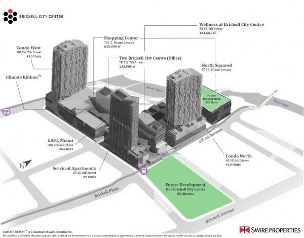Brickell City Centre Key Plan