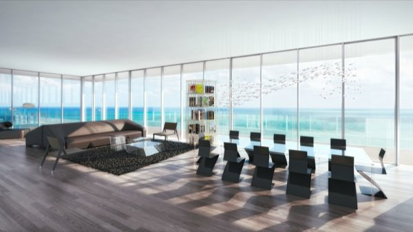 Glass Miami Beach Living room