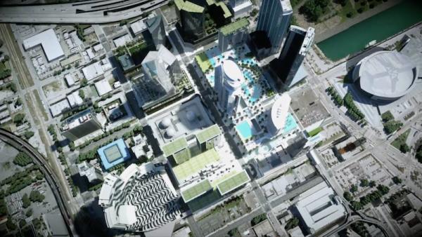 Paramount Miami Worldcenter Aerial