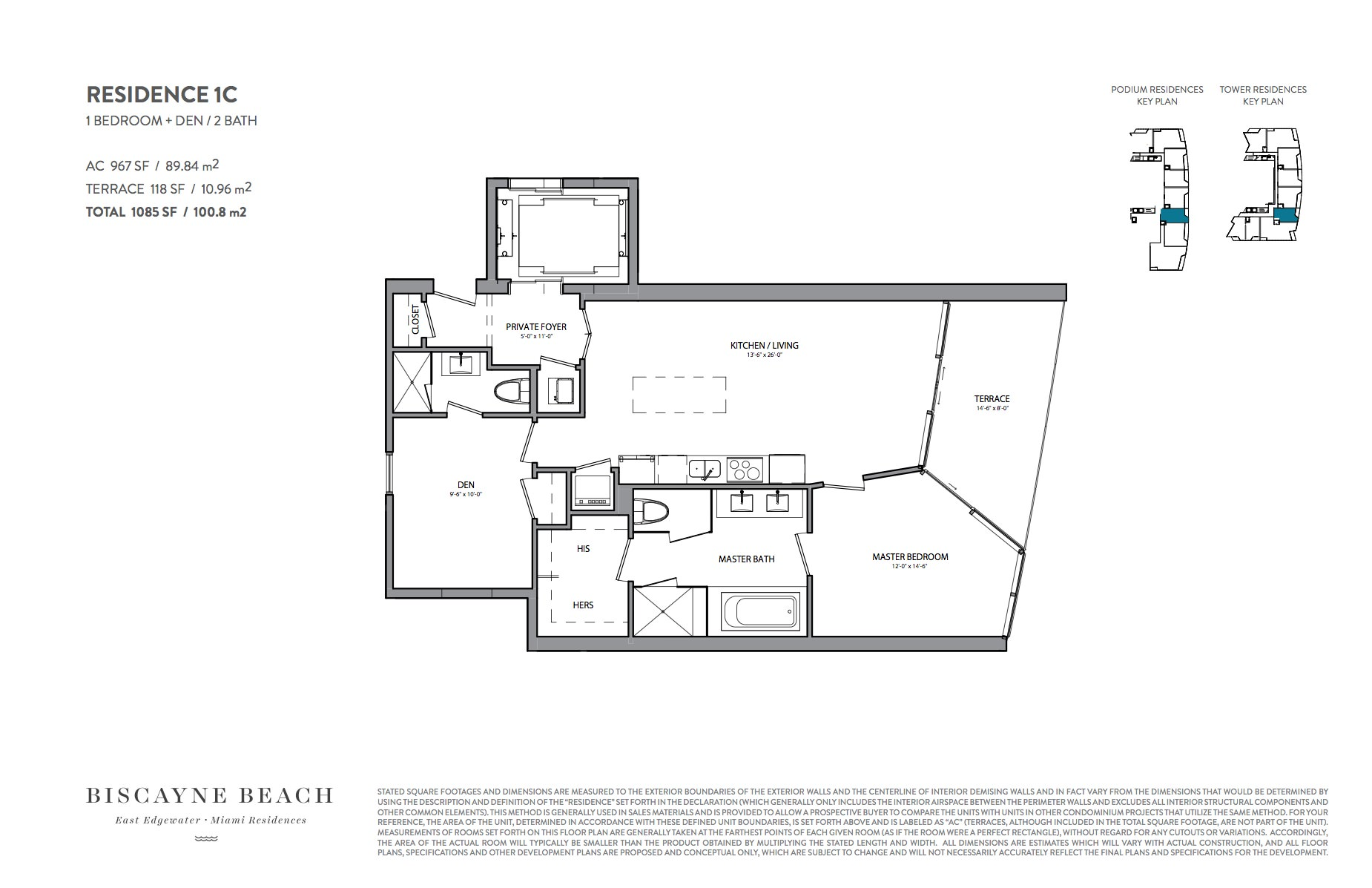 Biscayne beach condos 701 ne 29 st for Floor plans 900 biscayne