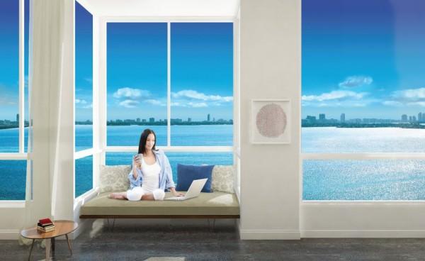 Crimson Miami Living room