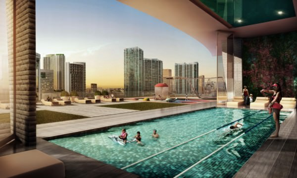 1010 Brickell Amenities Deck