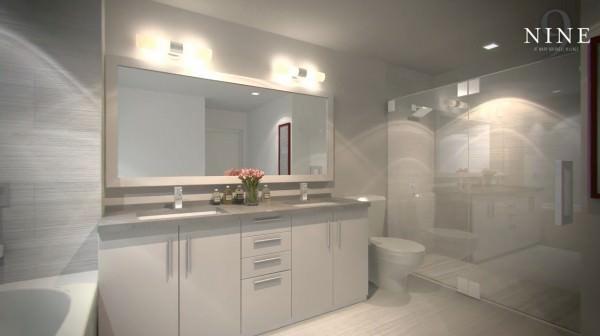Nine at Mary Brickell Bathroom