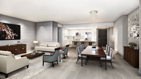 Apartments are delivered finished with gorgeous tile floors and there are furniture packages available