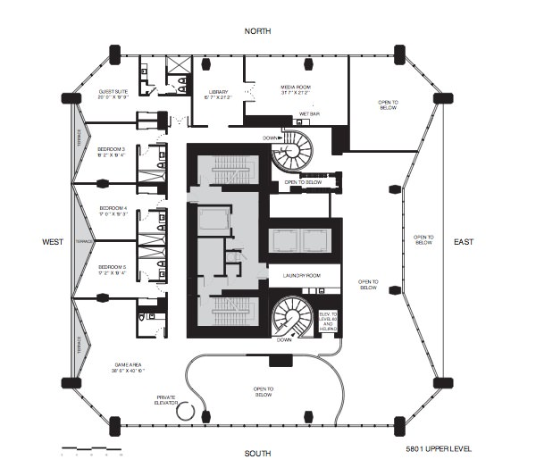 1000 museum floor plans for 1000 museum miami floor plans