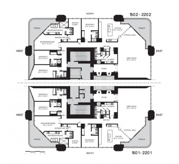 One Thousand Museum Floor Plans Half Floor Residences