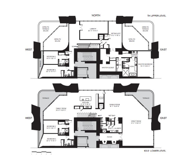 1000 Museum Floor Plans Townhouse Residences