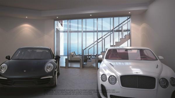Porsche Design Tower garage post