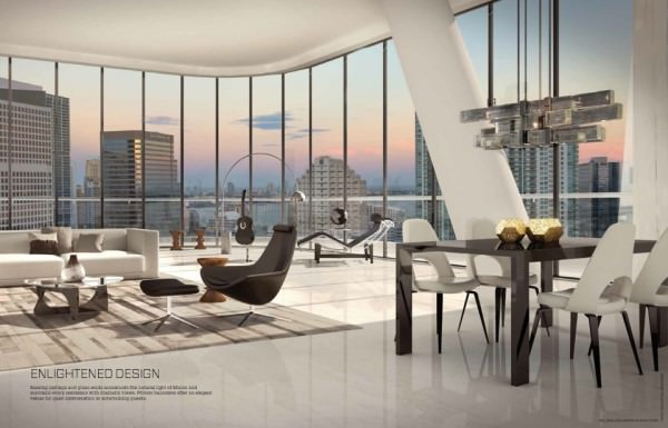 Brickell Heights Living room