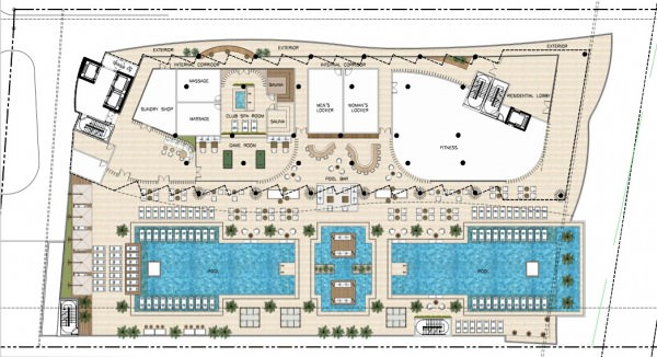 Hyde Beach Resort Condo Residences Amenities