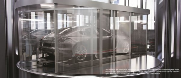 Porsche Design Tower Car Elevator