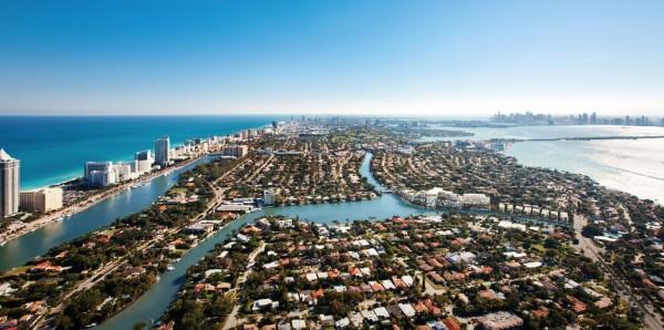 Ritz Carlton Miami Beach Building Aerial South View
