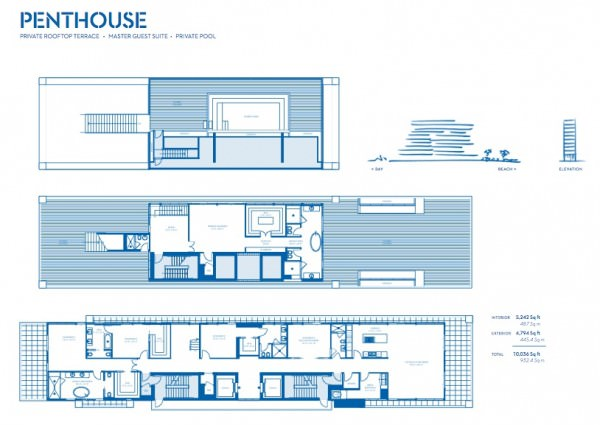 Beach House 8 Penthouse plan