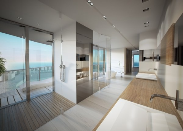 Regalia penthouse an exclusive design by charles allem for Bathroom design miami