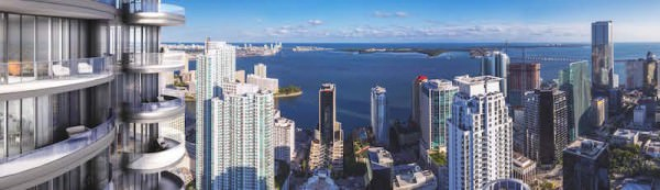 Brickell Balcony SE View