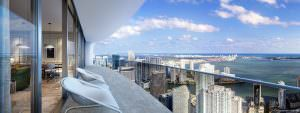 Brickell Flatiron Balcony and View