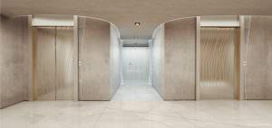 Brickell Flatiron Elevator lobby