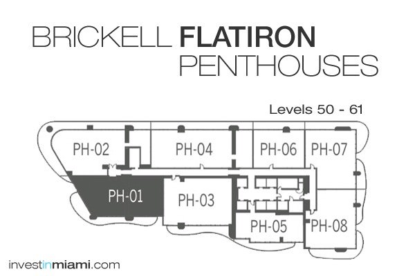 Brickell-Flatiron-Penthouse-Key-Plan