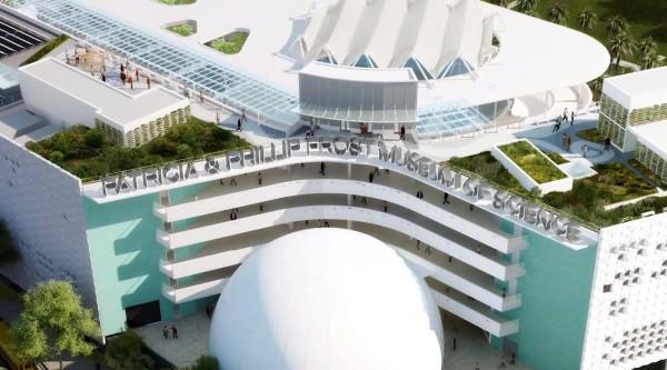Miami Museum of Science building close up