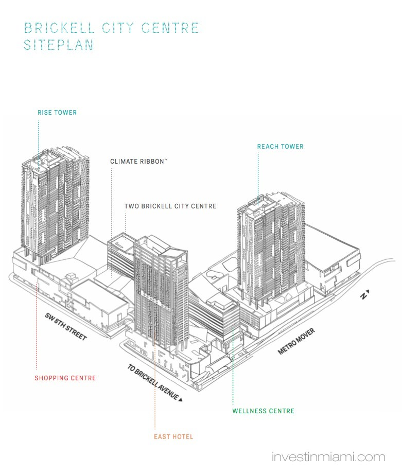 Rise Brickell City Centre Siteplan