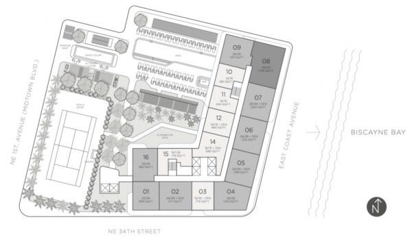 Hyde Midtown Key Plan
