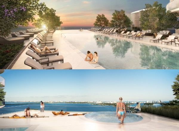 Aria Miami Sunrise and Sunset Pools