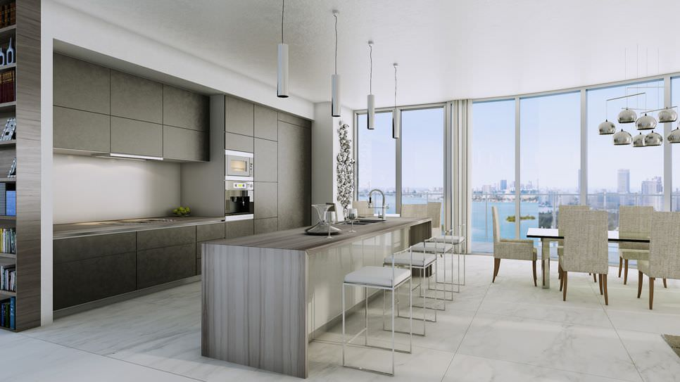 Aria Miami kitchen - investinmiami.com